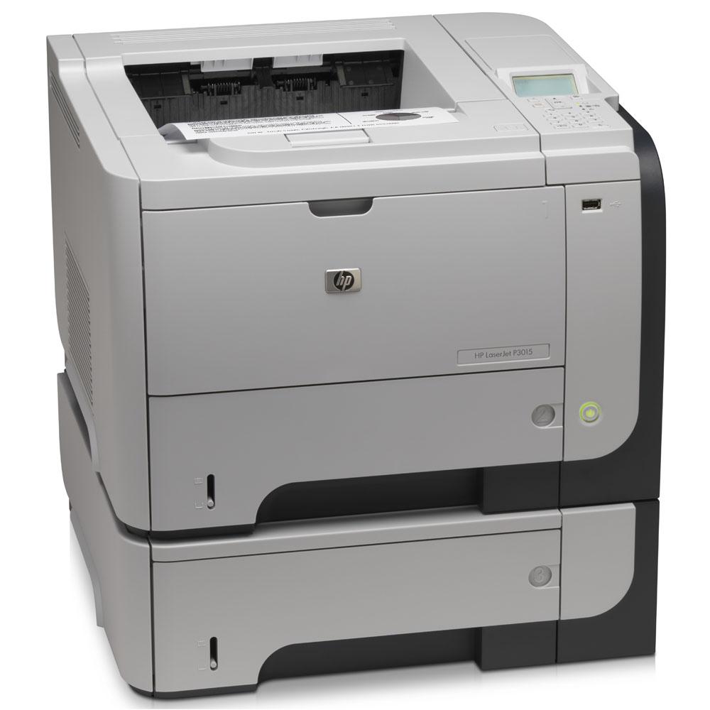Черно-белый лазерный принтер HP LaserJet Enterprise P3015x [X =DTN] (A4, 1200dpi, 40ppm, 128Mb, 3trays 100+500*2, USB/GigEth/EIO, Duplex, replace CE529A)