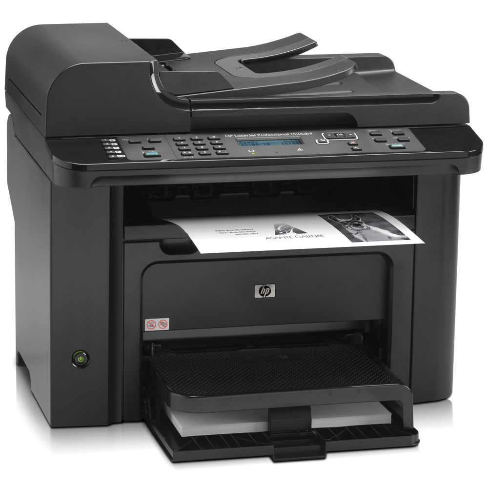 Черно-белое лазерное МФУ HP LaserJet Pro M1536dnf (p/c/s/f, A4, 1200dpi, 25ppm, 128Mb, 2trays 250+10, ADF 35 sheets, Duplex, USB/LAN, Flatbed, Cartrige 1000pages in box, replace CC372A, CB534A)