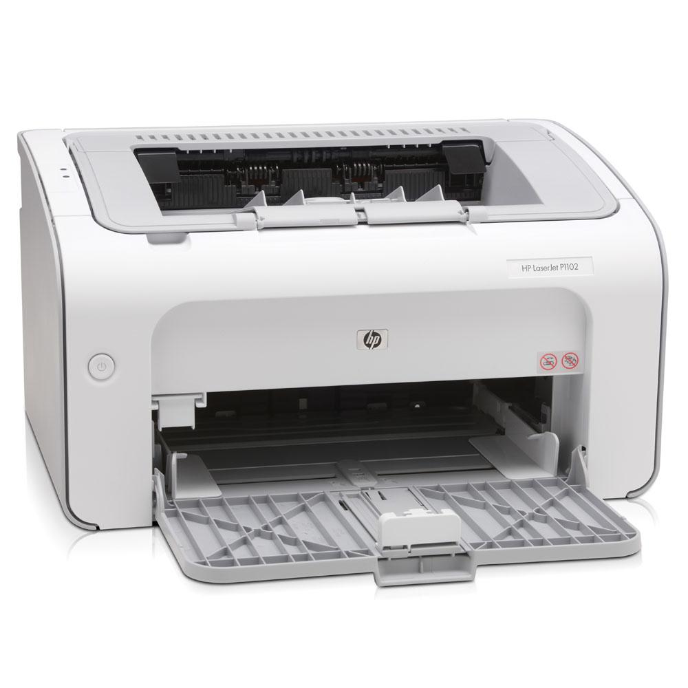 Черно-белый лазерный принтер HP LaserJet Pro P1102 (A4, 1200dpi, 18ppm, 2Mb, 1 tray 150, USB, Cartride 700pages in box, replace CB410A, CB411A)