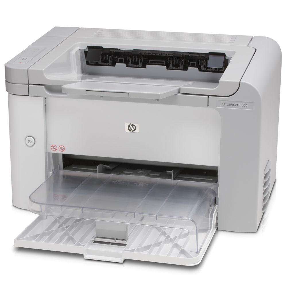 Черно-белый лазерный принтер HP LaserJet Pro P1566 (A4, 1200dpi, 22ppm, 8Mb, 2 trays 250+10, USB, Cartride 1000pages in box, replace CB412A)