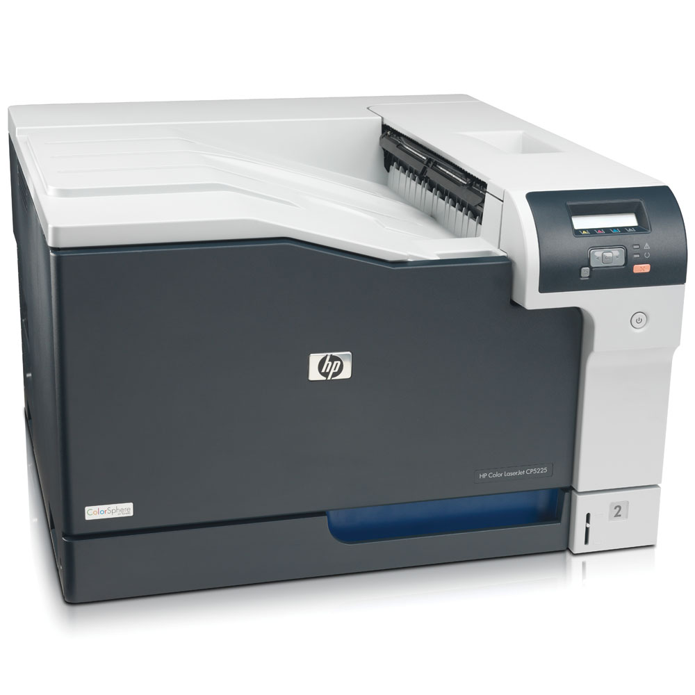 Цветной лазерный принтер HP Color LaserJet Professional CP5225n Printer (A3, 600dpi, 20(20)ppm, 192Mb, 2trays 250+100, USB/LAN)
