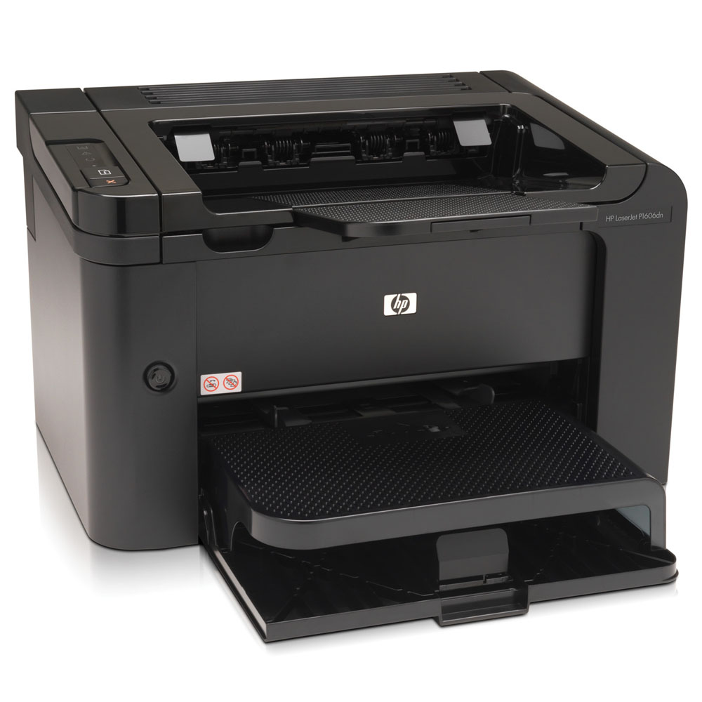 Черно-белый лазерный принтер HP LaserJet Pro P1606dn (A4, 1200dpi, 25ppm, 32Mb, 2 trays 250+10, USB, LAN, Duplex, Cartride 1000pages in box, black, replace CB413A)