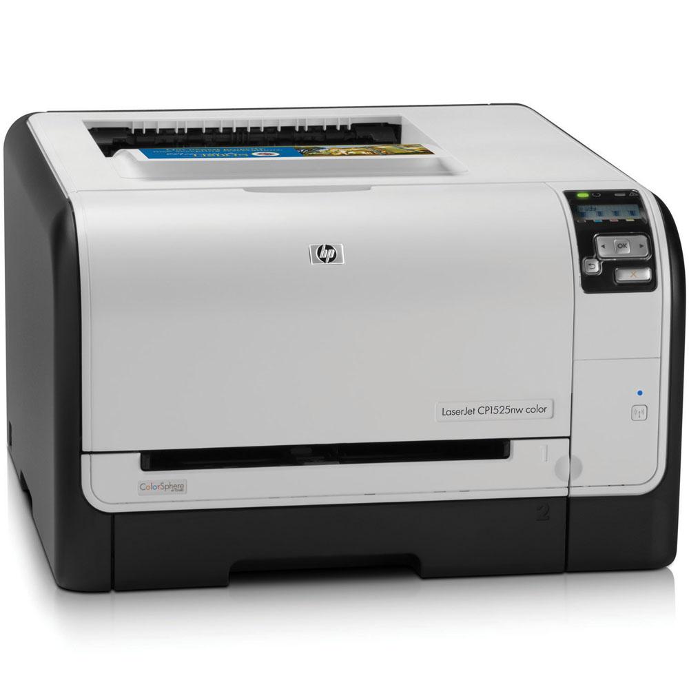 Цветной лазерный принтер HP Color LaserJet Pro CP1525nw (A4, 600x600dpi, 8(12) ppm, 128Mb, 2 trays 1+150, USB, LAN, Wireless, replace CC377A)
