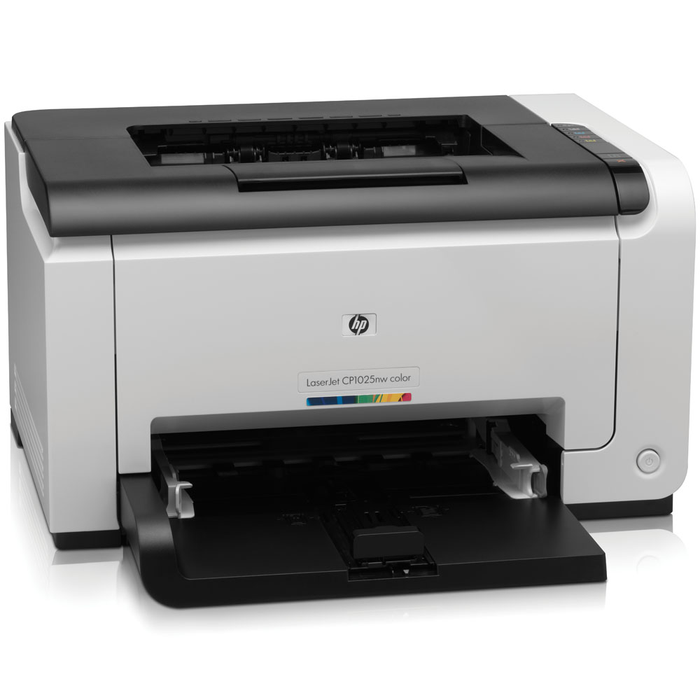 Цветной лазерный принтер HP Color LaserJet Pro CP1025nw   (A4, 600x600dpi, 4(16) ppm, 64Mb, 1 tray 150, USB, LAN, Wireless, replace CC376A)