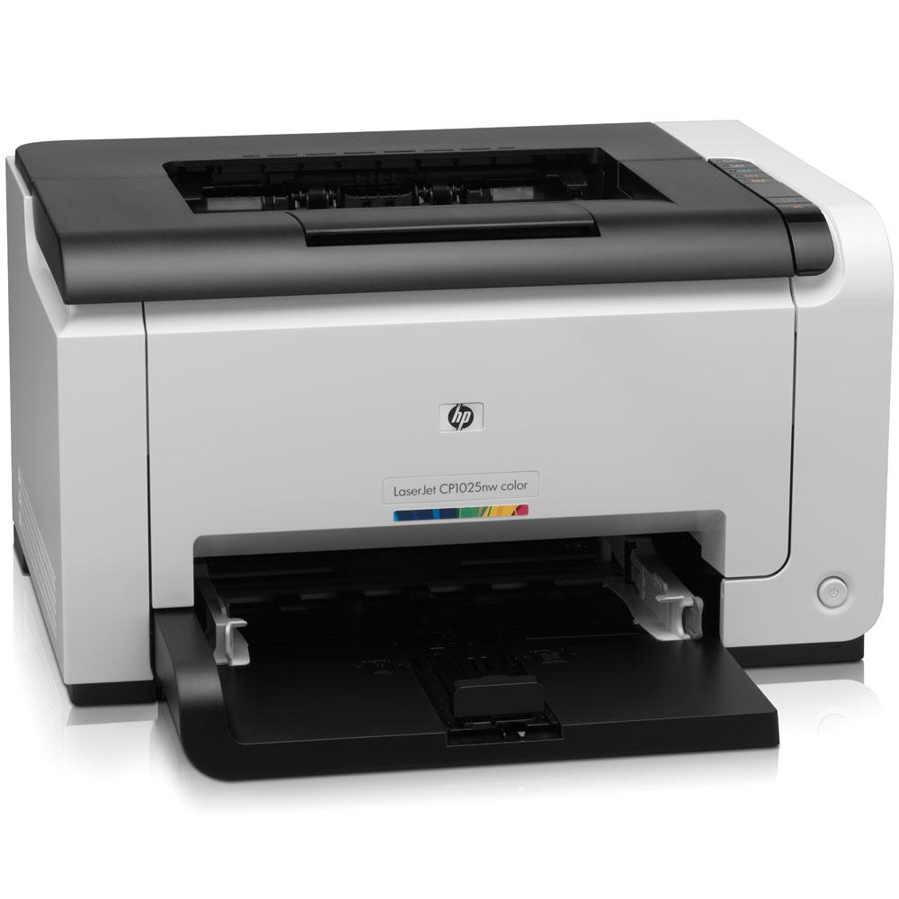Цветной лазерный принтер HP Color LaserJet Pro CP1025nw (A4, 600x600dpi, 4(16) ppm, 64Mb, 1 tray 150, USB, LAN, Wireless, replace CC376A)