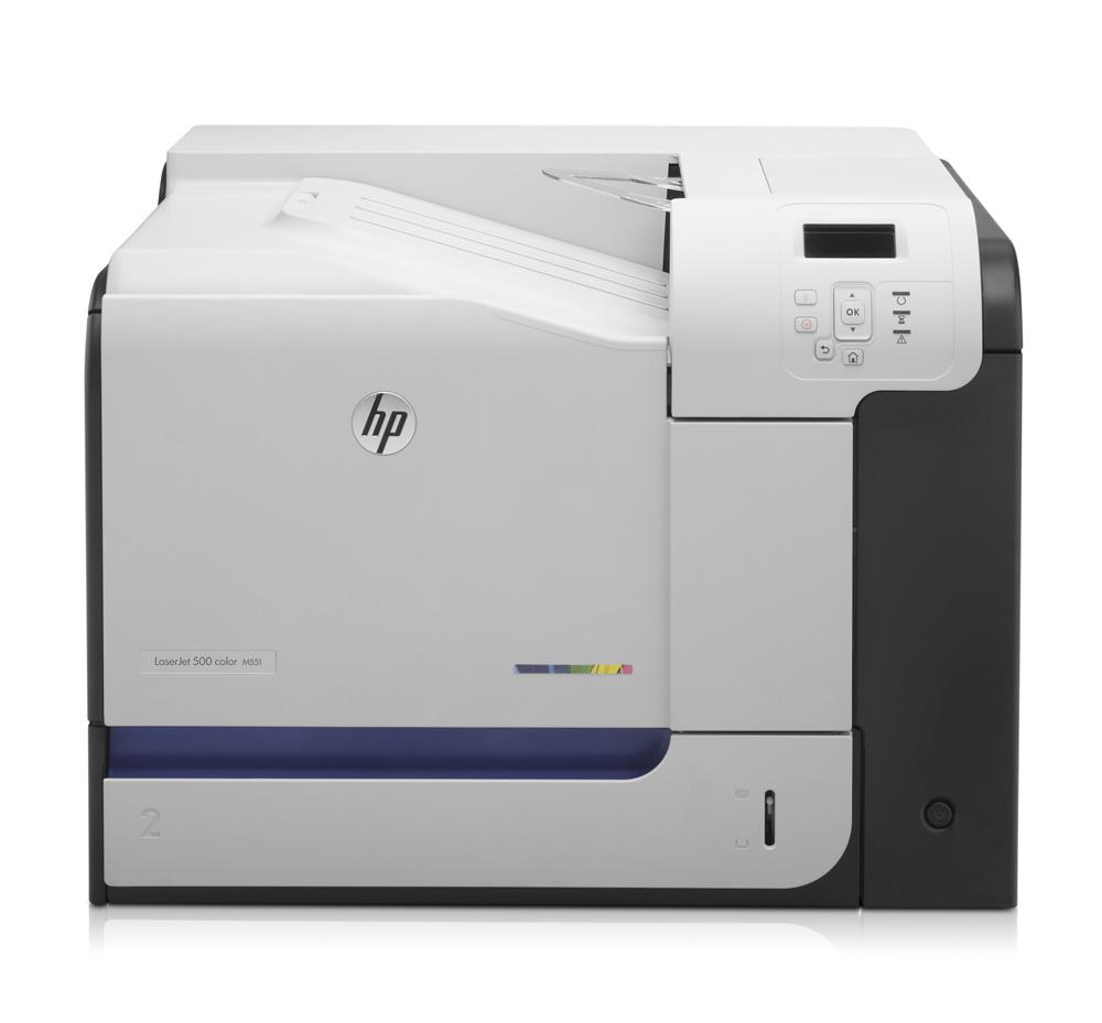 Цветной лазерный принтер HP LaserJet Enterprise 500 color M551n (A4, 1200dpi, ImageREt 3600, 32(32) ppm, 1 Gb, 2 trays 100+500, USB, LAN)