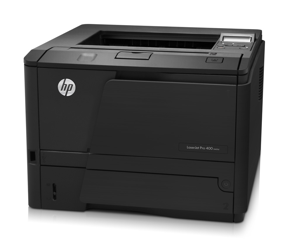 Черно-белый лазерный принтер HP LaserJet Pro 400 M401d   (A4, 1200dpi, 33ppm, 128Mb, 2tray 250+50, Duplex, USB2.0, Postscript3, cartridge 2700pages in box, Smart Install, repl. CE457A)
