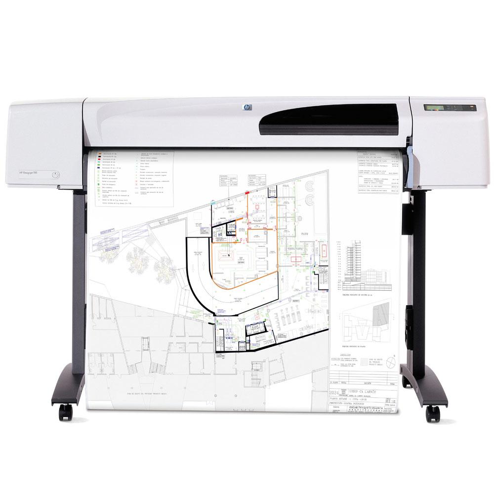 Широкоформатный принтер (плоттер) HP Designjet 510 (42-inch, 2400x1200dpi, 160Mb, USB/Parallel/EIO, single-sheet feed, roll feed, autocutter, stand, media bin, GL/2, RTL, PCL3 GUI, replace C7770F)