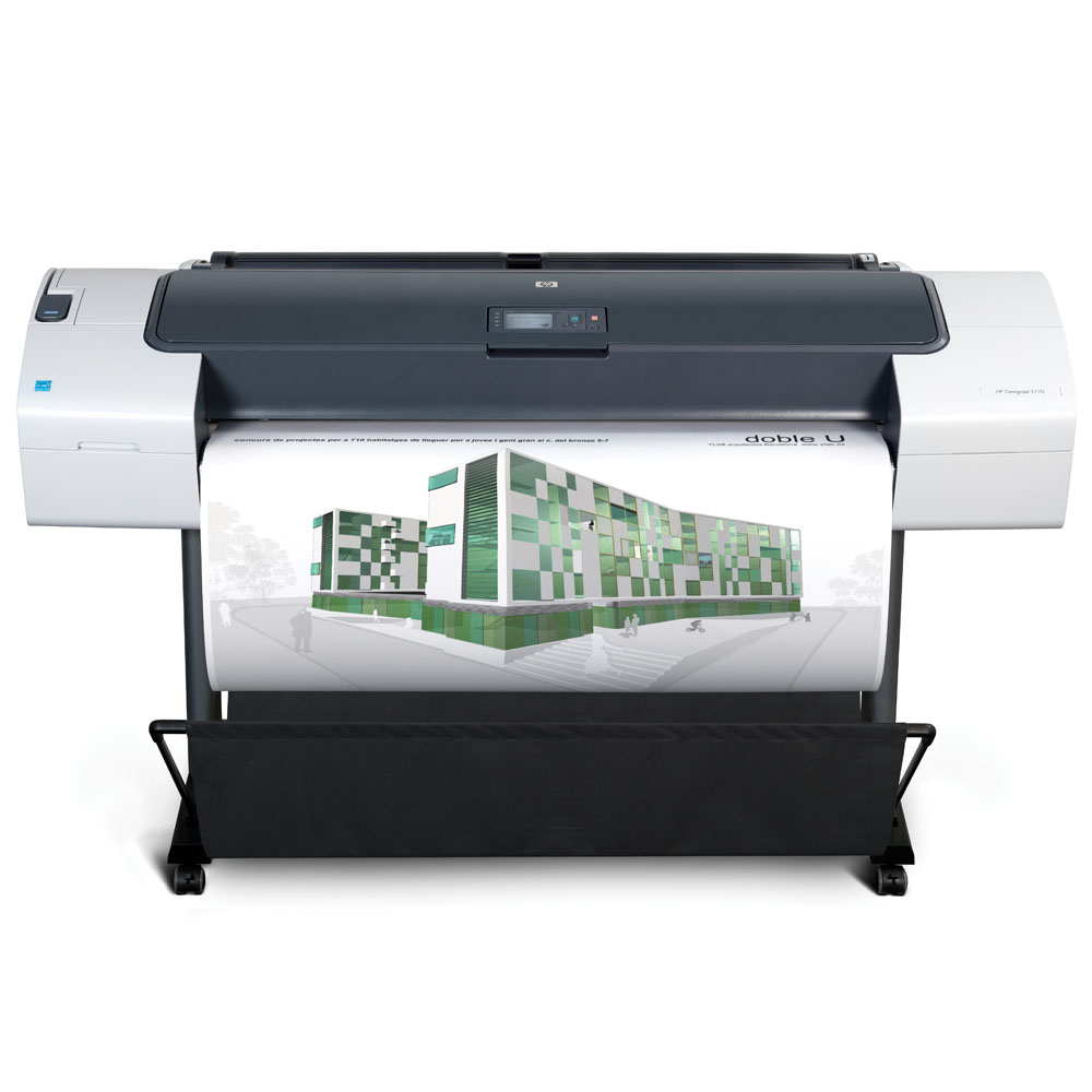 Широкоформатный принтер (плоттер) HP Designjet T770 (44-inch, 2400x1200dpi, 2Gb, USB/LAN/EIO/USB(ext.), stand, sheet feed, roll feed, autocutter, 6 cartridge/3 head, repl. Q6712A)