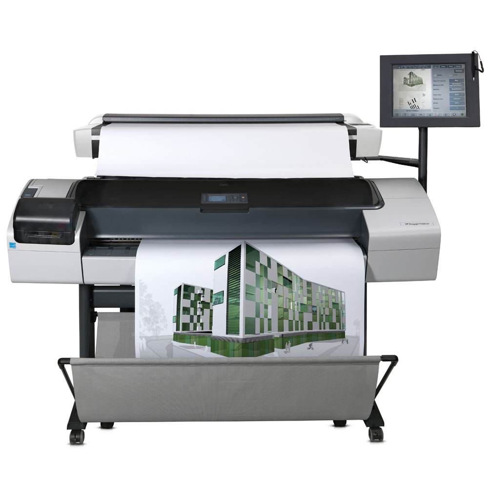 Широкоформатное струйное МФУ HP Designjet T1120 HD MFP (Printer 44-inch, 2400x1200dpi, PS;Scanner CCD 42-inch, 9600dpi, 48bit;Copier;PC;DVD-RW;LAN, replace Q6713A)