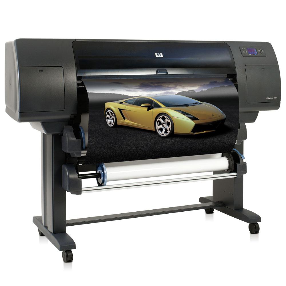 Широкоформатный принтер (плоттер) HP Designjet 4520 (42-inch, 2400x1200dpi, 608Mb, 160Gb HDD, GigEth/FireWire/EIO, two automatic rolls, autoroll-switching, autocutter, stand, replace Q1271A)