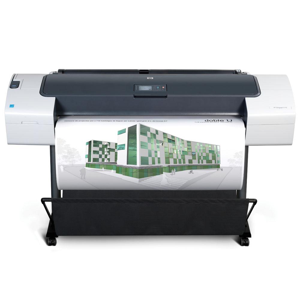 Широкоформатный принтер (плоттер) HP Designjet T770 HDD (44-inch, 2400x1200dpi, 8Gb, ext.HDD160Gb, USB/LAN/EIO/USB(ext.), stand, sheetfeed, rollfeed, autocutter, 6 cartr./3 head, repl. Q6712A)