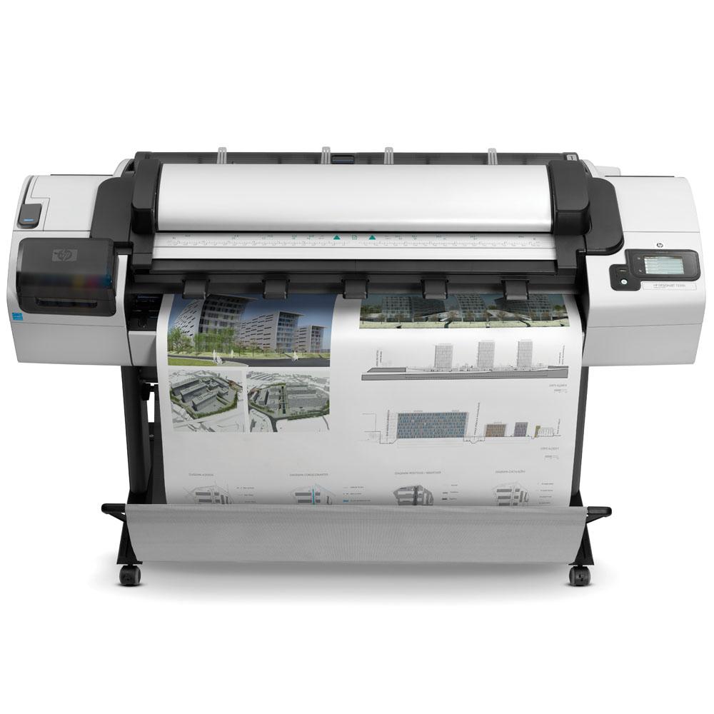 Широкоформатный принтер (плоттер) HP Designjet T2300 emfp (44-inch,2400x1200dpi, 32GB, HDD 160GB, 2 rolls, autocutter; Scanner CIS 36-inch,600x600dpi,48bit;Copier;USB ext, stand, touch display, USB/LAN/EIO)