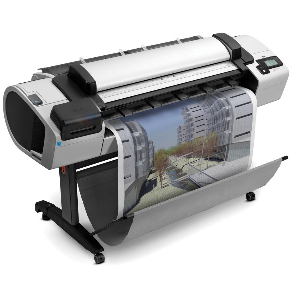 Широкоформатный принтер (плоттер) HP Designjet T2300ps emfp (44-inch,2400x1200dpi, 32GB, HDD 160GB, 2 rolls, autocutter ;Scanner CIS 36-inch,600x600dpi,48bit;Copier; USB ext, stand, touch display, USB/LAN/EIO, PostScript)
