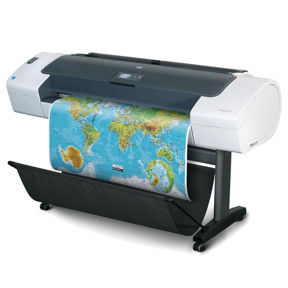 Широкоформатный принтер (плоттер) HP Designjet T770 (24-inch, 2400x1200dpi, 2Gb, USB/LAN/EIO/USB(ext.), sheet feed, roll feed, autocutter, 6 cartridge/3 head, replace CK835A)
