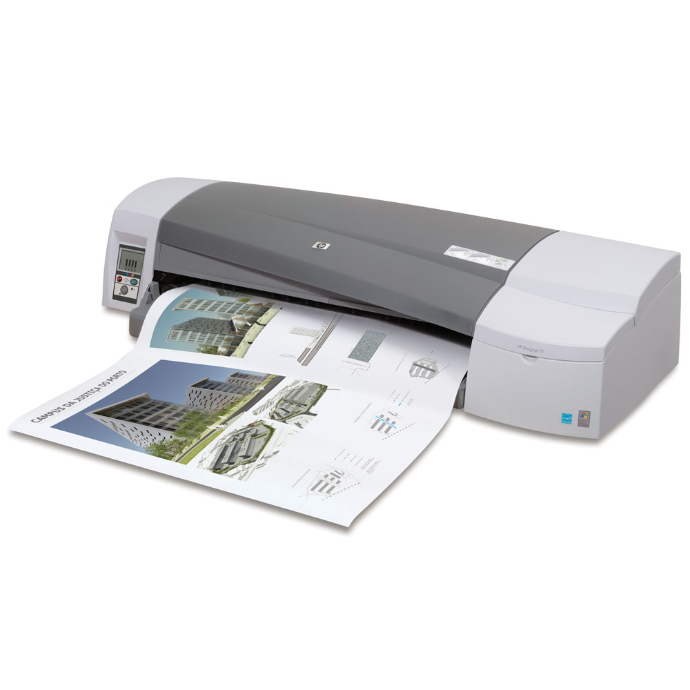 Широкоформатный принтер (плоттер) HP Designjet 111 Roll (A1,4 color,1200x600dpi,64Mb, 90spp(A1, drawing mode),USB/Parallel/EIO, roll feed,manual cutter,ACAD, replace C7796H)