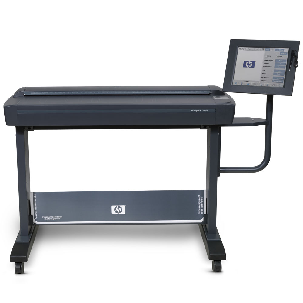 Широкоформатный сканер HP Designjet HD Scanner (42-inch, 9600dpi, 24bit, 1Gb, 160Gb HDD; PC;DVD-RW;LAN; replace CM770A)