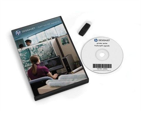 HP Designjet PostScript, PDF Upgrade compatible with DesignJet T7100, Z6200 (42'' & 60'')