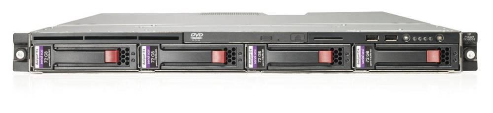 Сервер HP ProLiant DL160 G5 Server Rack 1U Xeom QuadCore E5405 2.0Ghz/12Mb, RAM 2x512Mb, HDD 160Gb LFF SATA, nonHotPlug SAS/SATA Drive Cage (max 4 LFF HDD), SATA RAID (1/0), noCD, noFDD, Dual Gigabit NIC