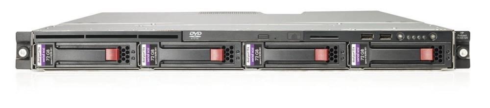 Сервер HP ProLiant DL165 G5 Server   2346HE Hot Plug SATA, SAS (Rack1U OpteronQC 1.8Ghz(2Mb), 2x1Gb, SAS RAID(1, 0), noLFF HDD(4), noCD.noFDD, 2xGigEth)