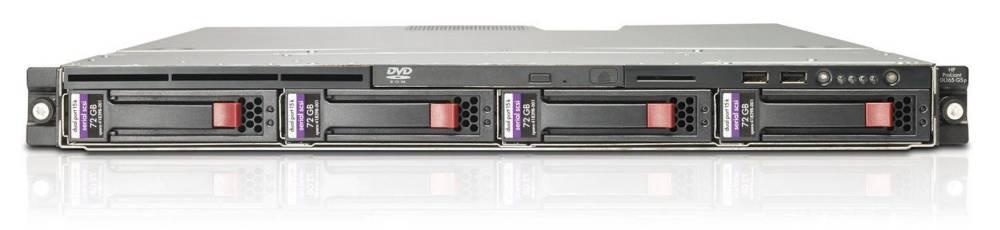 Сервер HP ProLiant DL165 G5p 2384 Hot Plug SATA, SAS HPM (Rack1U 2xOptQC 2.7Ghz(6Mb), 4x2Gb(6400), SAS RAID(1, 0), noLFF HDD(2active(4w, bckpln), noCD.noFDD, 2xGigEth)