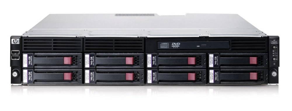Сервер HP ProLiant DL180 G5 Server Quad-Core Xeon E5405 (2.0GHz), RAM 1GB (1*1GB) PC2-5300 DDR-667, SATA RAID Controller (0/1), NC7781 Gigabit LAN, DVD-ROM, no HDD (up to 12 HotPlug 3.5-inch LFF SAS/SATA with optional controller), 750W PowerSupply, RACK-mount (2U)