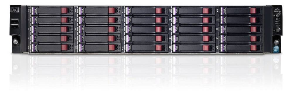 Сервер HP ProLiant DL180 G6 Server   Rack 2U, 2 x Intel Xeon E5645 (2.40GHz/6-core/12MB/80W, DDR3-1333, HT, Turbo 1/1/1/1/2/2) Processor, RAM 4x4Gb Registered DIMM, RAID P410 with 512Mb FBWC (RAID 5+0/5/1+0/1/0), noHDD SFF(25), noDVD, 2xGigEth+2p360T, 2xRPS750HE