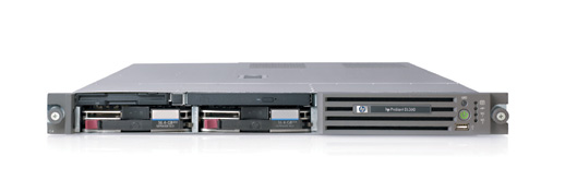 Сервер HP ProLiant DL360 G4 Server 2xXeonDP-3.4/1Mb/800MHz,   1Gb PC2700/333MHz, SATA (max. 2x250Gb), NHP, 2/2 PCI, noCD, noFDD, Dual Gigabit NIC, 1 Unit