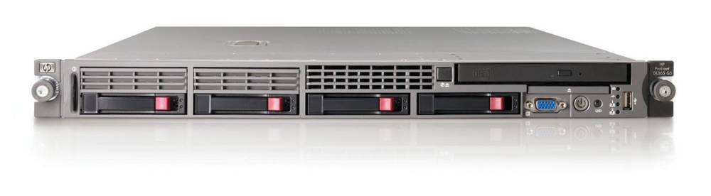 Сервер HP ProLiant DL365 G5 Server   2346HE (Rack1U OpteronQC 1.8Ghz(2Mb), 2x1Gb, , P400i(256Mb, RAID5, 1, 0), noHDD(6(4active))SFF, noDVD.noFDD, iLO2std, 2xGigEth MF)