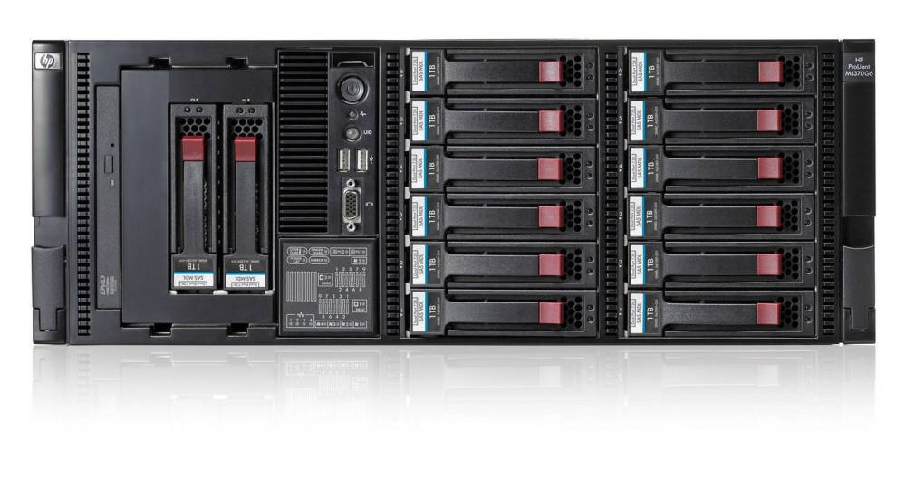 Сервер HP ProLiant DL370 G6 Server   E5645 (Rack4U Xeon6C 2.4 GHz(12Mb), 3x2GbR2D, P410iwBBWC(512Mb, RAID5+0, 5, 1+0, 1, 0), noHDD(8, 24up)SFF), DVD, iLO2std, 4xGEth, 3xFan, 1xRPS750HE)