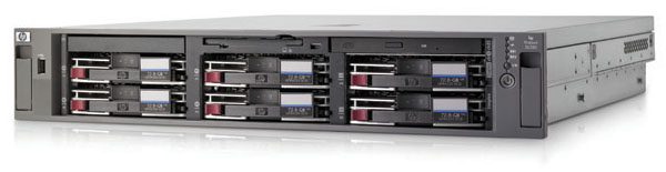 Сервер HP ProLiant DL380 G4 Server XeonDP-3.4/2Mb/800MHz,   1Gb PC2-3200/400MHz, Ultra320-SCSI (max. 6x300Gb), HotPlug, 3/3 PCI, SA6i, CD, noFDD, Dual Gigabit NIC, 2 Units
