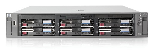 NAS сервер HP ProLiant DL380G5 x64 SAN Storage Server (included: E5345 (2.33GHz), 4GB (2*2GB) SDRAM, Dual NC373i Gigabit LAN, SA P400/512MB BBWC (RAID 0/1/1+0/5/6), DVD+/-RW, 2*36GB 10k SAS SFF HDD, 2*800W PS, iLO2 Adv Lic, MS Unified Data Storage Server 2003, Enter