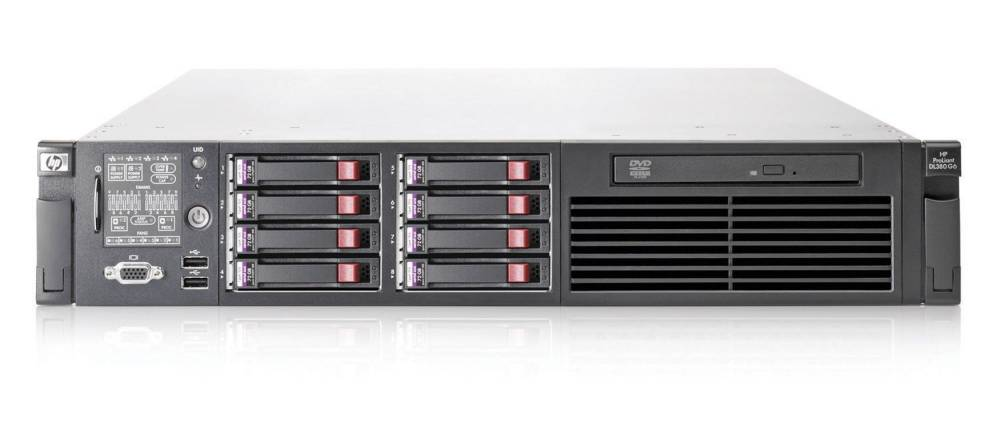 Сервер HP ProLiant DL380 G6 Server   E5504 (Rack2U XeonQC 2.0Ghz(4Mb), 2x2GbRD, P410i(256Mb, RAID5+0, 5, 1+0, 1, 0), 1x146Gb10kHDD(8(16up))SFF, noDVD, iLO2std, 4xGigEth, 1xRPS460)