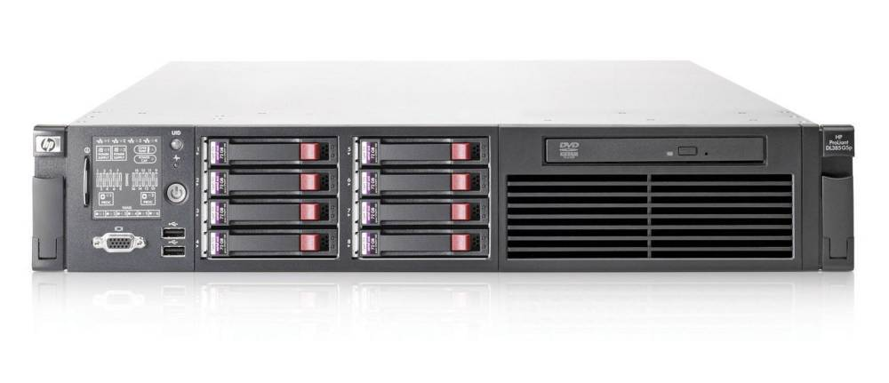 Сервер HP ProLiant DL385 G5p   2389 HPM (Rack2U 2xOptQC 2.9Ghz(6Mb), 4x1Gb, P400wBBWC(512Mb, RAID6, 5, 1+0, 1, 0), noHDD(8, 16up)SFF, DVDRW, iLO2std, 4xGigEth MF, 2xRPS750)