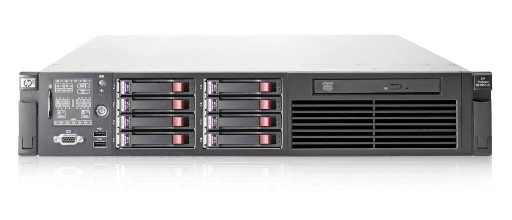 Сервер HP ProLiant DL385 G6 Server 2435 HPM (Rack2U 2xOptSC2.6Ghz(6Mb), 4x4Gb, P410wBBWC(512Mb, RAID5, 5+0, 1+0, 1, 0), noHDD(8, 16up)SFF, DVDRW, iLO2std, 4xGigEth, 2xRPS750)