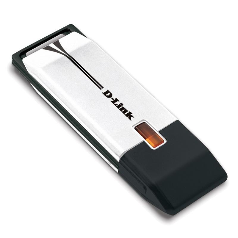 D-Link DWA-160, RangeBooster N, DualBand, USB 2.0 adapter, 802.11n