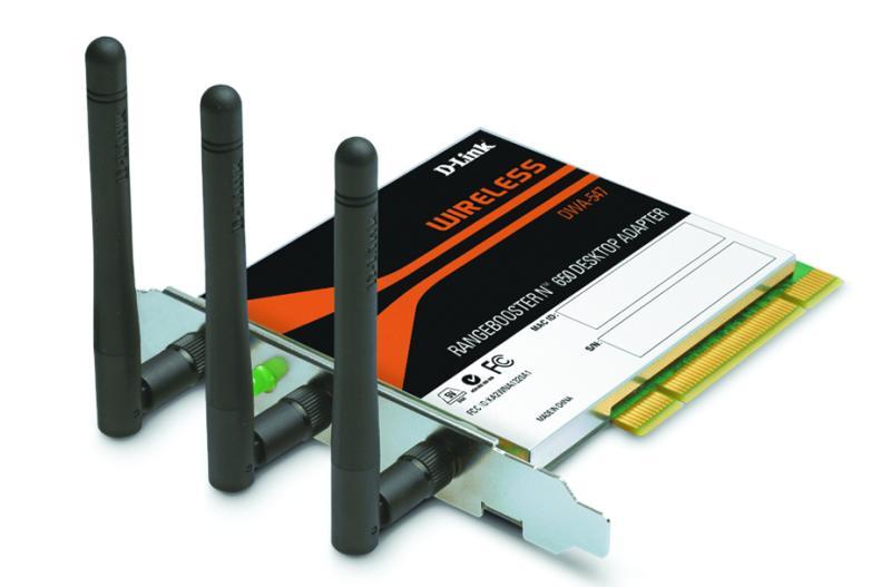 D-Link DWA-547, RangeBooster N PCI adapter, 802.11n