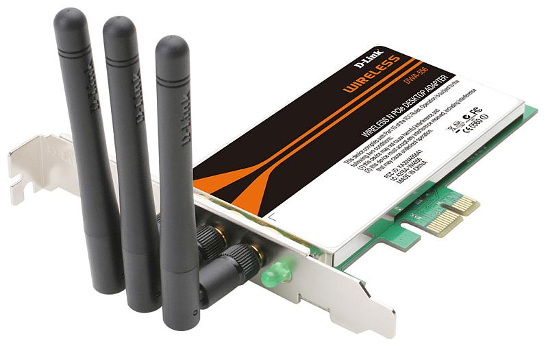 D-Link DWA-556, PCI-Express adapter, Extreme N, 802.11n
