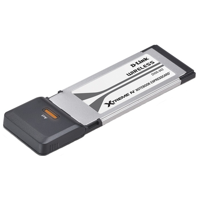 D-Link DWA-643, Wireless Extreme N Notebook Expresscard adapter, 802.11n