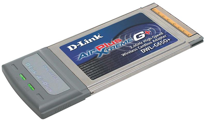 D-Link DWL-G650+, CardBus-wireless adapter , 802.11g (54Mbps)