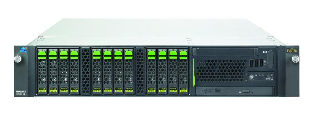 Сервер Fujitsu PRIMERGY RX300 S6 Server 2U Xeon E5645 2.40GHz, 12MB, 2x8GB DDR3 1333MHz, 8x2.5-inch hotplug backplane, DVDRW, RAID Ctrl SAS 6G 5, 6 512MB, RMK