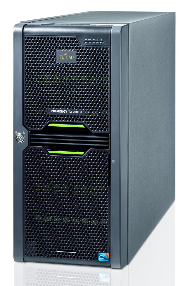 Сервер Fujitsu PRIMERGY TX200 S6f Server   Xeon E5620 2.40GHz/12MB, 4GB DDR3 1333MHz, 8x2,5'' hotplug backplane, DVD-ROM, RAID Ctrl SAS 6G 5/6, no powercord, hotplug PSU