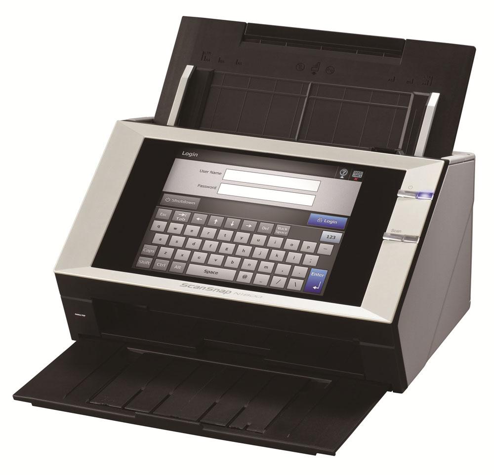 Сканер Fujitsu ScanSnap N1800, сетевой, цветной, двухсторонний, 20 стр./мин, ADF 50, RJ45, A4