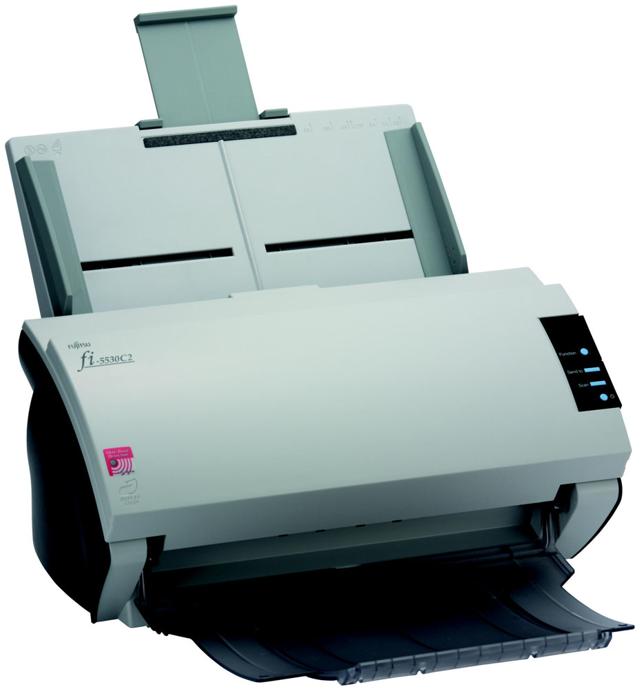 Сканер Fujitsu fi-5530C2, цветной, двухсторонний, 35 стр./мин, ADF 100, SCSI-2, USB 2.0, A3