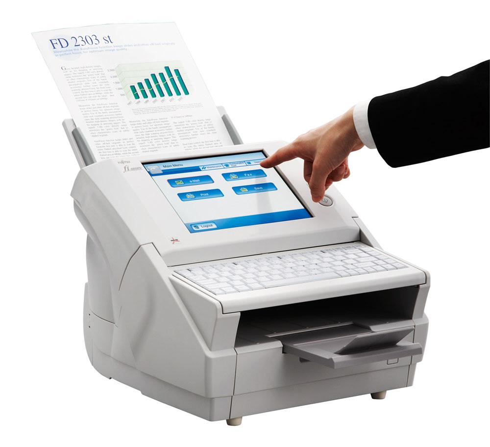 Сканер Fujitsu fi-6010N, сетевой, цветной, двухсторонний, 25 стр./мин, ADF 50, RJ45, A4