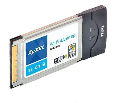 ZyXEL Беспроводной сетевой PC Card-адаптер 802.11g с двойной защитой соединения WPA2 и режимом WMM для мультимедиаприложений