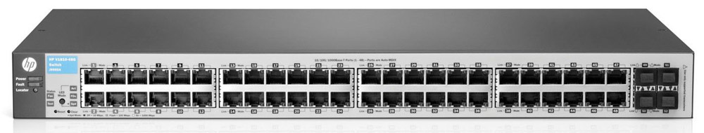 Коммутатор HP 1810-48G Switch (48 ports 10/100/1000 + 4 SFP, WEB-managed, 19')