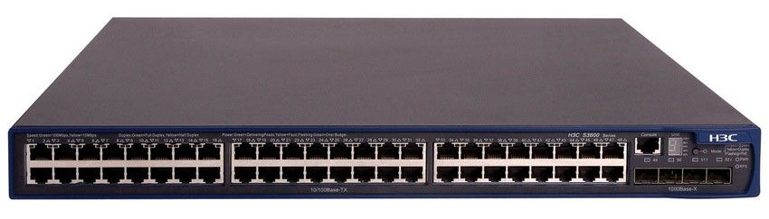 Коммутатор HP A3600-48 EI   Switch (48x10/100 + 4xSFP, Managed L3, Stacking, 19')(repl. for JE103A)