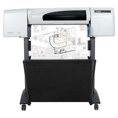 Широкоформатный принтер (плоттер) HP Designjet 510 (24-inch, 2400x1200dpi, 160Mb, USB/Parallel/EIO, single-sheet feed, roll feed, autocutter, GL/2, RTL, PCL3 GUI, replace C7769F)