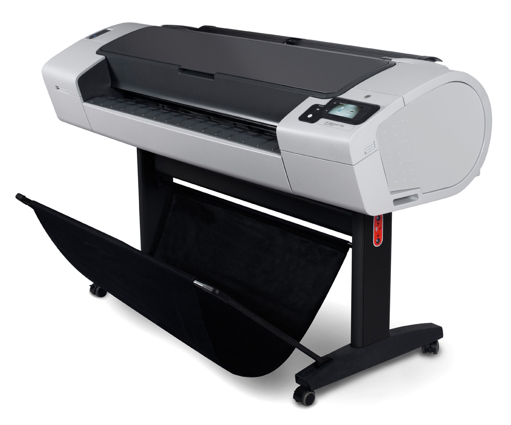 Широкоформатный принтер (плоттер) HP Designjet T790 ePrinter (44-inch, 2400x1200dpi, 8Gb(virtual), USB/USB ext/LAN/EIO), stand, sheetfeed, rollfeed, autocutter, TouchScreen, 6 cartr., 1y war, replace CQ305A)